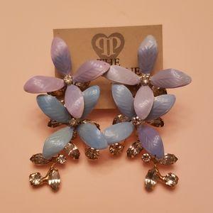 Jennifer Behr Lilac Flower Earrings